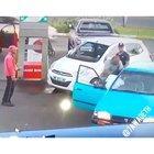 Piece of shit driver demolishes other car driver after minor fender bender