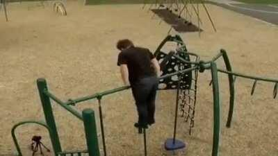 WCGW trying to do gymnastics at the park