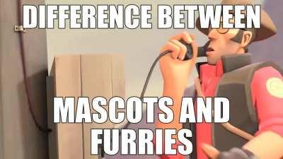 The difference between being a mascot and a being a furry