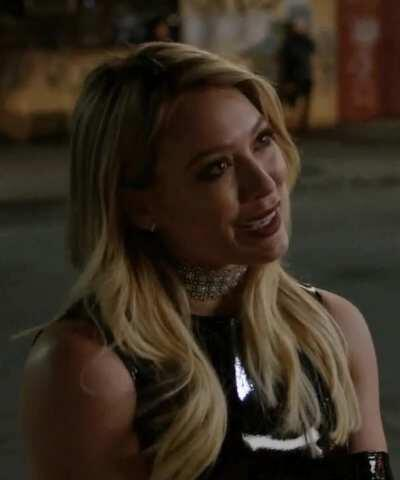 Hilary Duff in Leather 2 GIF