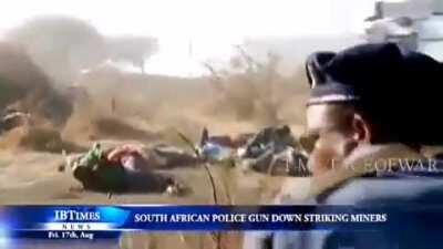 South African Police guns down Mine Workers (16.8 2012)