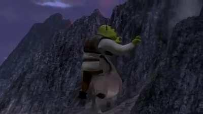 Shrek and Donkey stumble upon an event