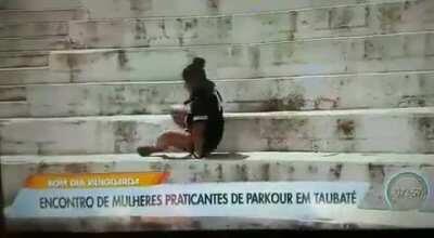 Encontro de praticantes de Parkour