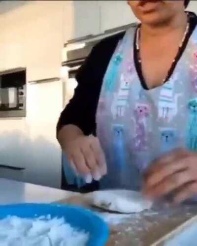 Buelita was always in the kitchen.