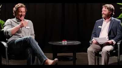 When I need cheering up and a good laugh I reach for the Between Two Ferns bloopers