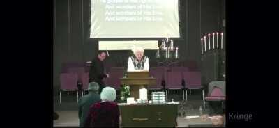 guy breaks candles in church, yes you heard it correctly