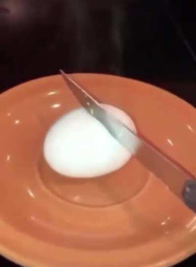 Microwaving a hardboiled egg