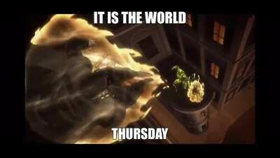 It is The World Thursday