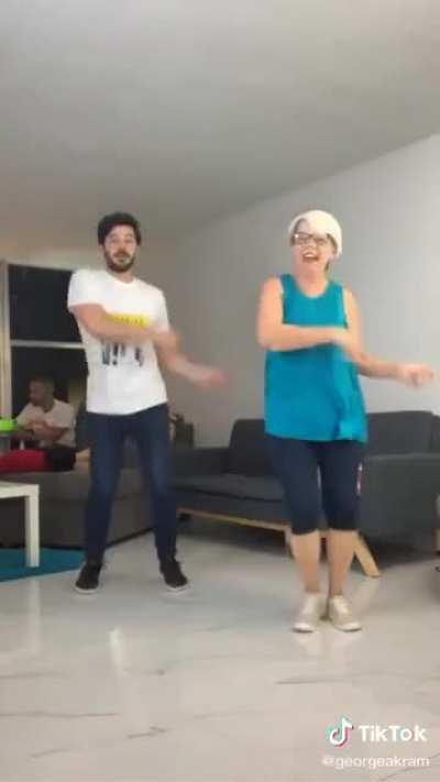 Dancing to the 21st of September with mom.