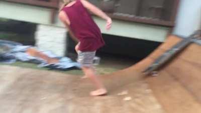 did some hawaii backyard skating. Video credits : my nephew.
