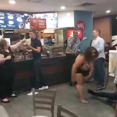 She manhandled him