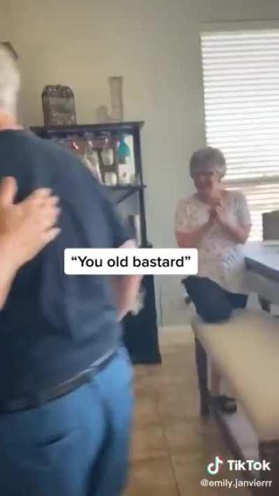 Best friend surprise for his 80th birthday