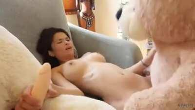 Getting Plowed by a Teddy Bear