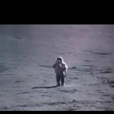 Moon landing, with Benny Hill and sped up