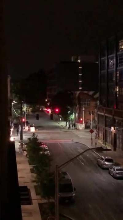 Seattle protestor yells at local residents with a megaphone at midnight to stop whining about her whining