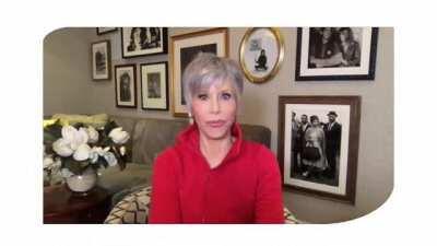 Jane Fonda: Atriz duas vezes vencedora do Oscar e ativista contra as mudanças climáticas. Um exemplo a ser seguida. Via BBC New Brasil