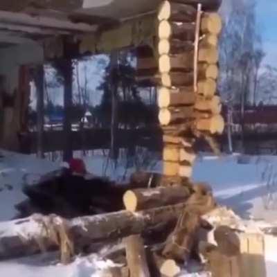 WCGW destroying a house