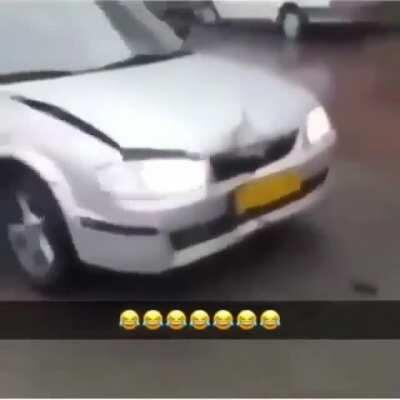 WCGW Trying to hit a person with a car