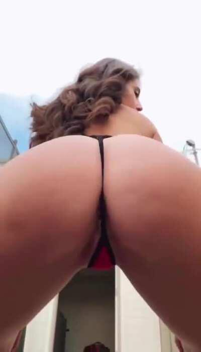 Behind booty