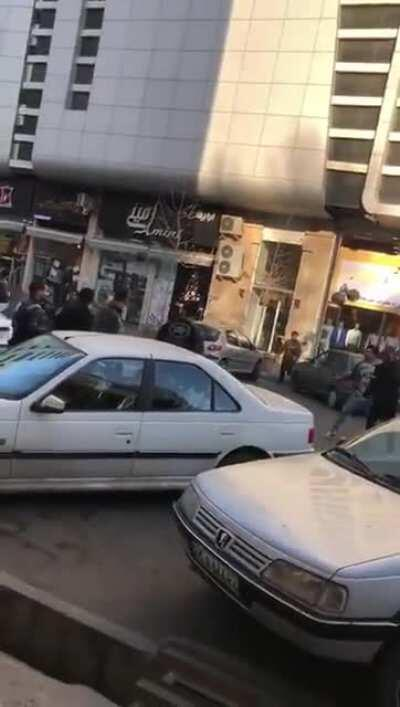 Near Tehran, Iran. An odd group fight with everyone using bars and swords of some kind.