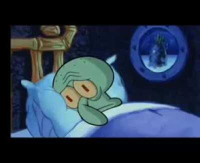 Squidward tries to sleep as SpongeBob and Patrick consemate their friendship [ASMR]