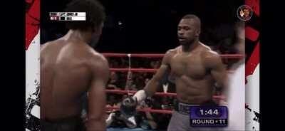 A prime Roy Jones jr batters an extremely tough but overmatched Richard Hall