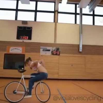 Skills with a bicycle