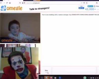 Joker finds kid on Omegle with a bong