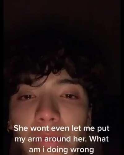 Crying on TikTok