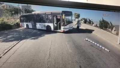 Bus driver nearly sends bus full of passengers off the cliff !