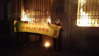 France burns as the first phase of a deeply authoritarian new law is passed in the lower courts. The law will make it illegal for citizens to film police at certain times and give the police the power to decide on a whim who is and isn't a reporter.