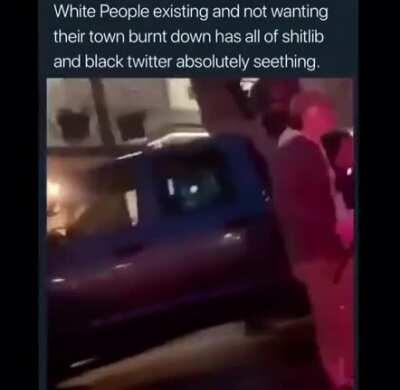 Soyboy can't comprehend the thought of people defending their community from looters