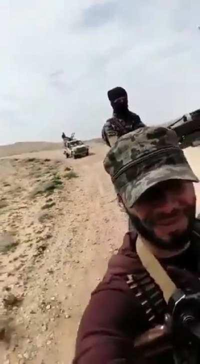 Syrian Arab Army getting hit with an IED, from couple of months ago