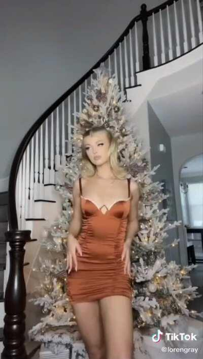 One of the dresses from her new TikTok