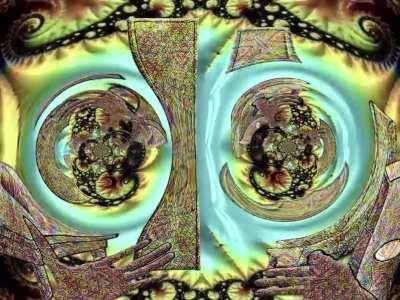 DMT like visuals, collaboration by @fractalgate and @_metafixion_