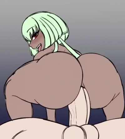 Extra THICC Emerald Goes For A Ride (DynamoHeart)