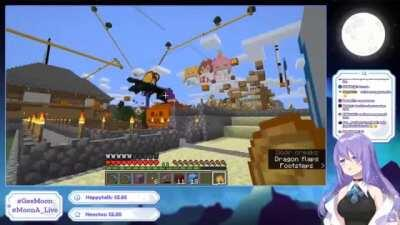 Moona plays Skyrim in Minecraft