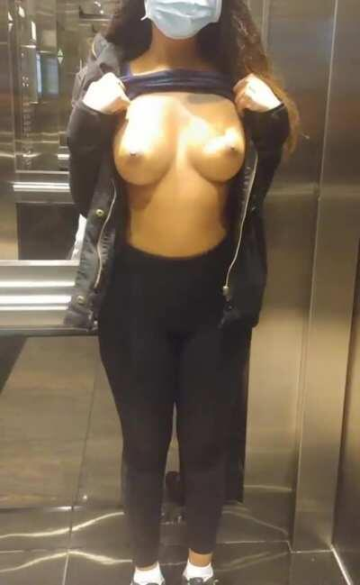 I wonder if the building security guard saw me? [f]