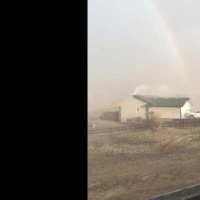 In Taber today. My sister sent the video.