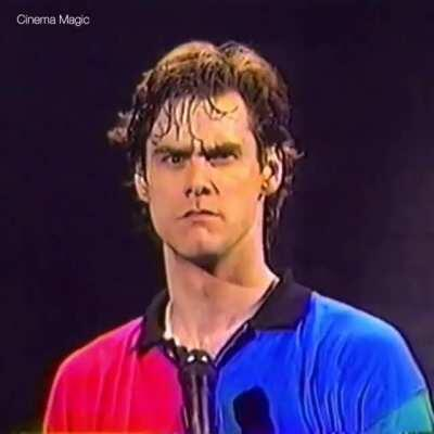 Jim Carrey's impression of Clint Eastwood.