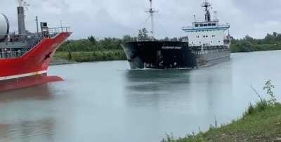 Head-On Collision!! The Alanis and The Florence Spirit Collided Head-On in The Welland Canal Today, (I do NOT own this Footage). Shocking!