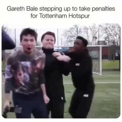 Bale stepping up to take penalties