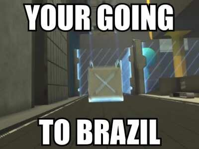 On his way to Brazil