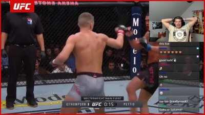 UFC fighter watches himself get knocked out