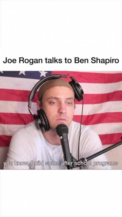 Joe Rogan interviews Ben Shapiro parody
