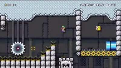 My second upload of the day. SMW Kaizo using moving platforms.