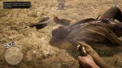 This is honestly the first time Red dead made me jump 😂