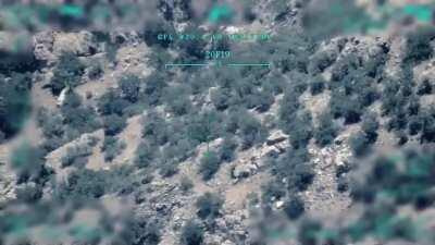 Turkish drone targeting pkk fighter, Claw Tiger Operation 19.09.2020
