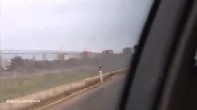 WCGW Speeding down a wet highway