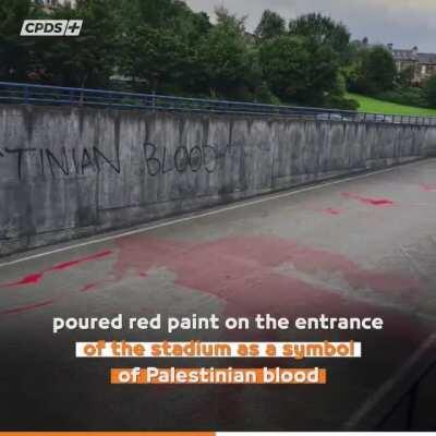 The Scots reject isreali occupation of Palestine and stand in solidarity with the Natives of the land 'Palestinians'